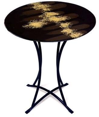 Jasmine Art Glass End Table Jasmine Art Glass