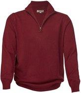 Cashmere Boutique Men's Pure Cashmere Half Zip Sweater
