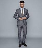 Reiss Leon - Cotton Linen Blend Slim Fit Blazer in Blue
