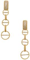 Rachel Zoe Jane Pave Link Drop Earrings