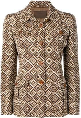 Prada Pre-Owned 1990's geometric pattern boxy jacket