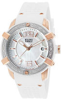 Elini Barokas 20005D-RG-02-WHT-SB Women's Spirit Diamond White Silicone MOP