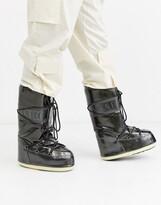 Moon Boot Vinil Met snow boots in black