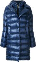 Herno long hooded puffer coat