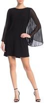 MSK Pleated Bell Sleeve Mini Dress