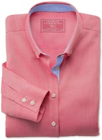 Charles Tyrwhitt Coral Oxford semi-fitted shirt