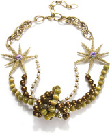 Charm & Chain Fenton Knot Necklace, Brass