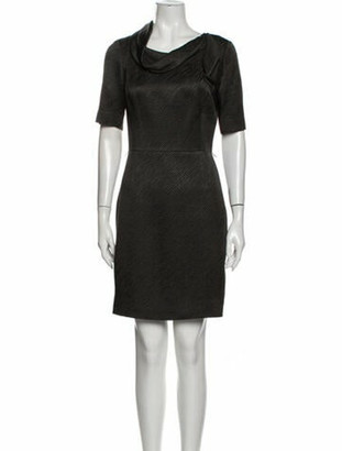 Oscar de la Renta Wool Mini Dress Wool