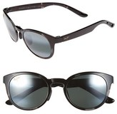 Maui Jim Women's 'Keanae' 49Mm Sunglasses - Black And Grey Tortoise/ Grey