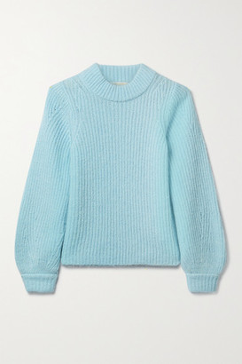 MICHAEL Michael Kors Ribbed-knit Sweater - Sky blue