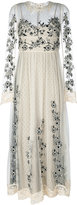 RED Valentino floral patches sheer dress - women - Polyester - 40