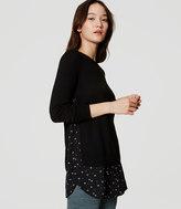 LOFT Petaled Two-In-One Sweater
