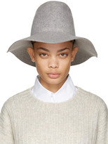 CLYDE Grey Felt Pinch Fedora