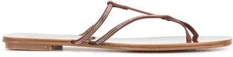 Pedro Garcia crystal-embellished sandals