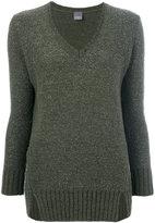Lorena Antoniazzi V-neck jumper - women - Nylon/Polyamide/Cashmere/Metallic Fibre - 44