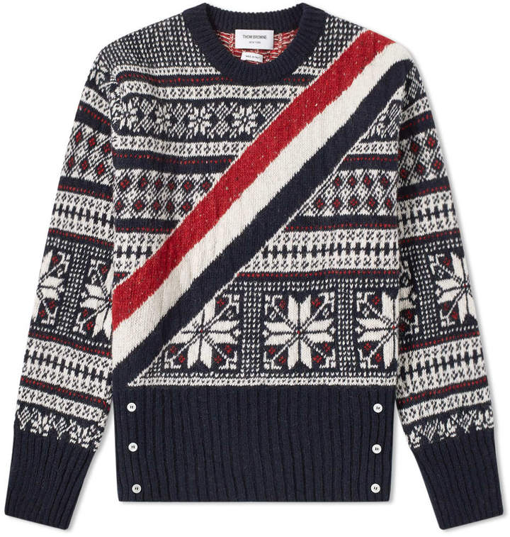 Thom Browne Winter Fair Isle Crew Knit
