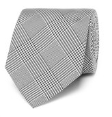 Drakes Drake's - Easyday 7cm Prince Of Wales Checked Silk Tie - Gray