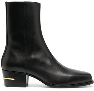 Amiri Square-Toe Leather Boots