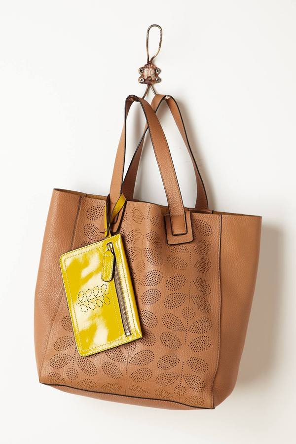 Anthropologie Stem Punched Tote