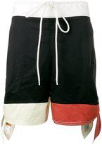 Chloé colour block shorts - women - Cotton - 34