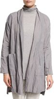 Eileen Fisher Lightweight Textured Kimono Jacket, Smoke, Plus Size