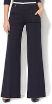 New York & Co. 7th Avenue Pant - Wide-Leg - Ponte - Navy