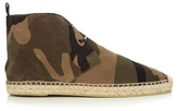 Saint Laurent Camouflage Brushed-suede Boot