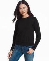 White House Black Market Black Boxy Sweatshirt