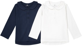 La Redoute Collections Cotton T-Shirt with Peter Pan Collar, 1 Month-3 Years