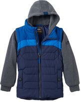 Pacific Trail Boys 4-7 Mock-Layer Puffer Vest Hoodie