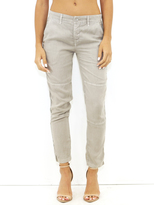 Bella Dahl Twill Tape Trousers in Mushroom