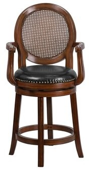 "Darby Home Co Sauve Swivel Counter & Bar Stool Seat Height: Counter Stool (26.5"" Seat Height)"