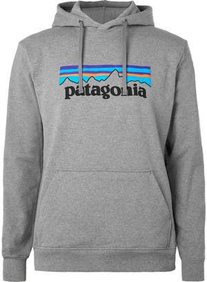 Patagonia P-6 Logo Uprisal Printed Melange Fleece-Back Jersey Hoodie