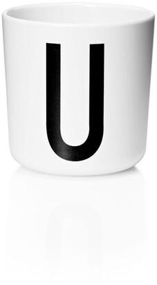 Design Letters Personal Melamine Cup - U