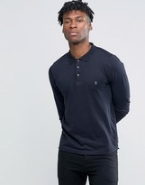 French Connection Long Sleeve Polo Shirt