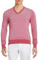 Michael Kors Two-Tone V-Neck Sweater