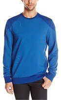 Calvin Klein Men's Color Blocked Sporty Terry Crew Neck Sweatshirt