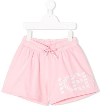 Kenzo Kids Logo-Print Track Shorts
