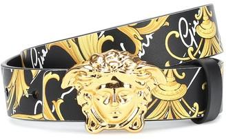 Versace Kids Printed leather belt