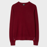 Paul Smith Men's Damson Cotton-Blend Textured-Knit Sweater
