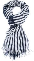 stripe print scarf
