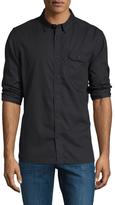 Jachs Brushed Twill Ribbon Button One Pocket Shirt