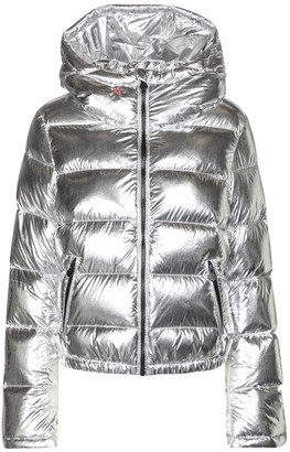 Perfect Moment Polar Flare metallic down ski jacket