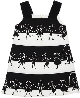 Mi Mi Sol Striped Stretch Jersey Dress