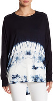Fate Dolman Long Sleeve Hi-Lo Tie Dye Shirt