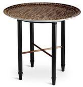 L'OBJET Fortuny Ashanti Mahogany & Earthenware Side Table