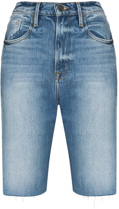 Frame Le Vintage Bermuda distressed denim shorts