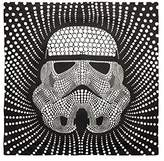 "Star Wars Storm Trooper Dots Square 26"" x 26"" Euro Sham with Flange, Black/White"