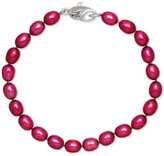 Honora Style Cherry Cultured Freshwater Pearl Bracelet in Sterling Silver (7-8mm)