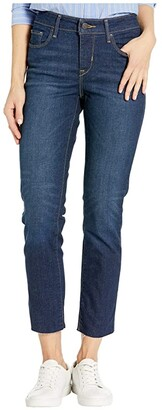Levi's Womens Womens Classic Mid-Rise Skinny Ankle (Dark Lapis Blue) Women's Jeans